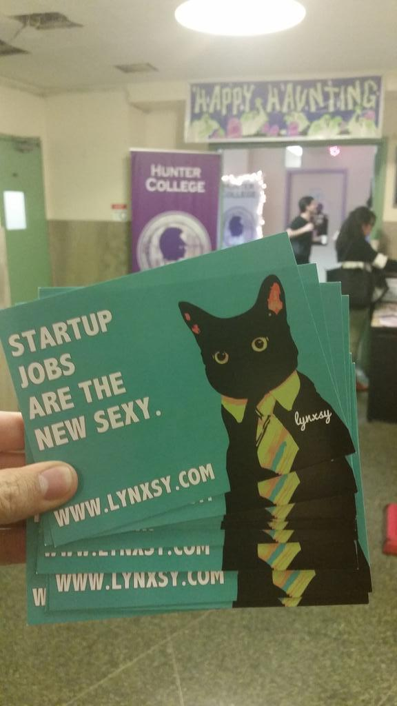 I'm also the Lynxsy Campus Ambassador at @Hunter_College. Aren't our Cat Cards awesome?! #BusinessCat #DayInTheLife http://t.co/OWfhXKv6NO