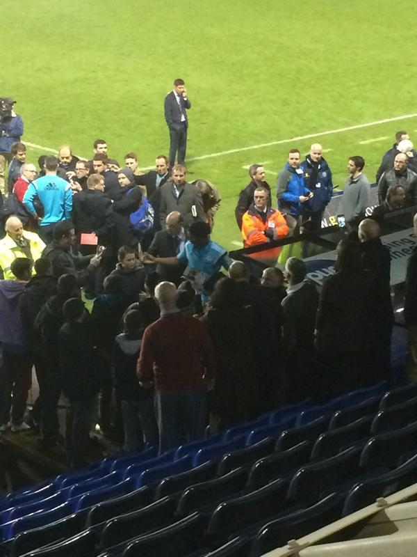 He is a class act, Didier Drogba out having photos with young Shrewsbury fans, 30 mins after final whistle. http://t.co/zgy4oxAHJi