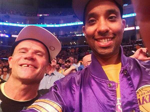 Good hang @flea333  PMA @lakers