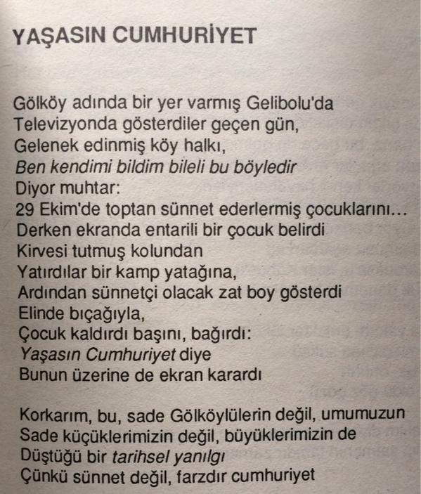 Sunay Akın On Twitter Can Yücel Ustamızdan Bir Cumhuriyet şiiri