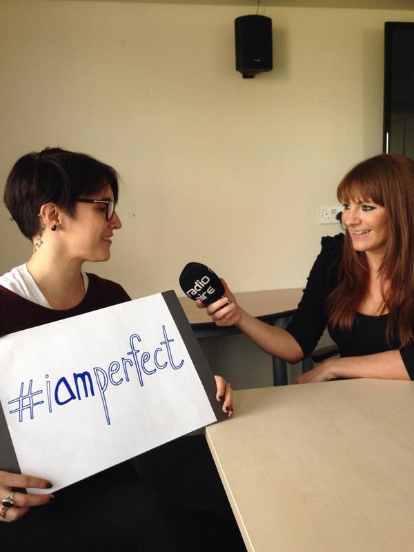 Interview @radioaire @radioairenews #iamperfect campaign reached over 2000 signatures http://t.co/ypmEPGm27T