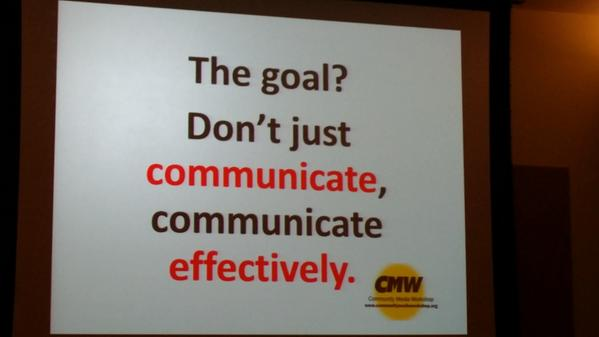 Don't just communicate, communicate effectively. - @Susys #SM4NP http://t.co/IKB0OhDjP4