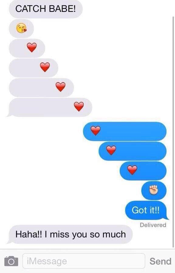 sending a heart in a text message