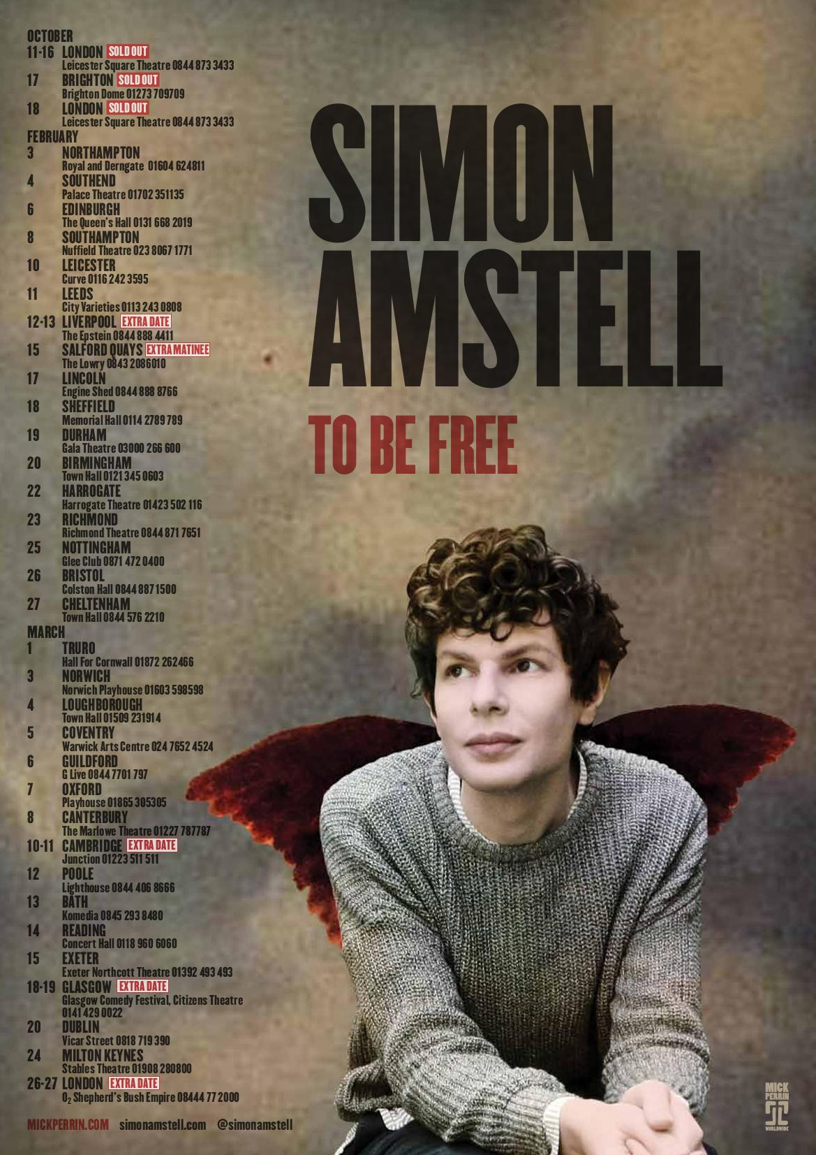 Book now to avoid disappointment: @SimonAmstell live is Absolute Comedy Gold: http://t.co/q86CvAsHXO