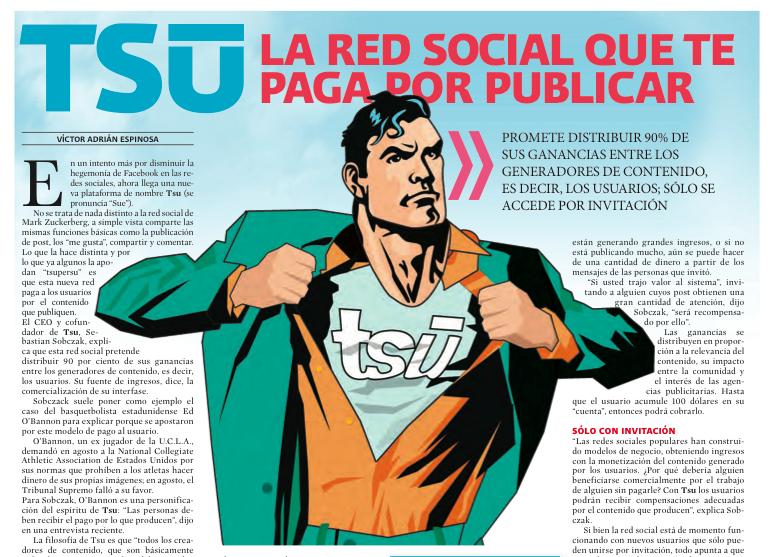 Red social para ganar dinero, Tsu