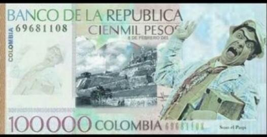 Ya está definido !!! Billete de $100.000: Cien Suso Lucas. @susoelpaspi http://t.co/To69Di1IQE