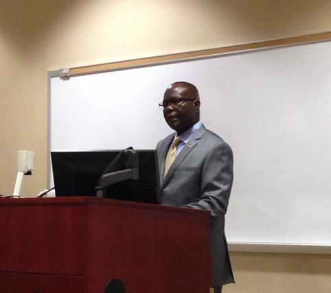 Liberian Ambassador Jeremiah Sulunteh is speaking to students at Elizabethtown University about Ebola. http://t.co/tF2M19qvob
