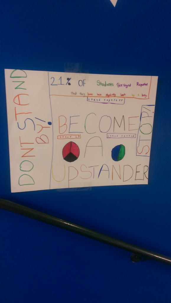 A PSA from 5th grade #dontbeamonster #standupforwhatsright #ADayInTheLife http://t.co/coH7imTkAZ