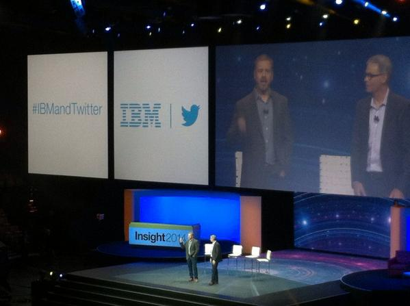 A new modern partnership just announced with that blue little bird #IBMandTwitter #IBMInsight http://t.co/KoUiSRULKl