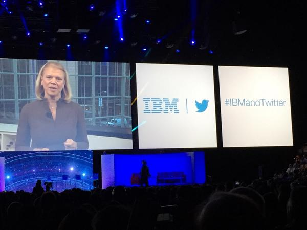 IBM CEO @GinniRometty and Twitter CEO @dickc talk about the brand new #IBMandTwitter partnership at #IBMInsight http://t.co/nCONM1NZKf