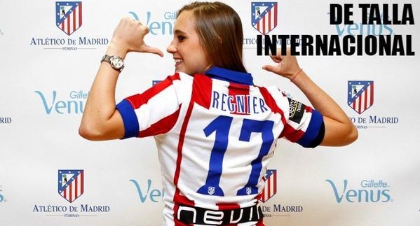 #Europa - gran noticia para el #FútbolFemenino. @nicoleregnier11 es del @AtletiFeminas >> http://t.co/8fYuSwLPAa http://t.co/wSZ6F7uU9z