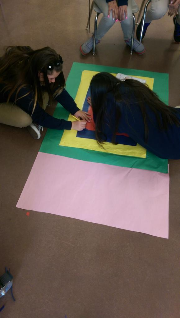 Ciara and Jasmin working hard on their #realnumbers poster #rational #8thgradeknows! #dayinthelife http://t.co/G5MyQJBA9o