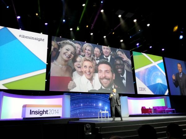 """A PHOTO BOMB that will last forever... most retweeted #selfie ever. CAN you say Dr. Seus?"" @KevinSpacey #IBMInsight http://t.co/m1j7syGkv0"