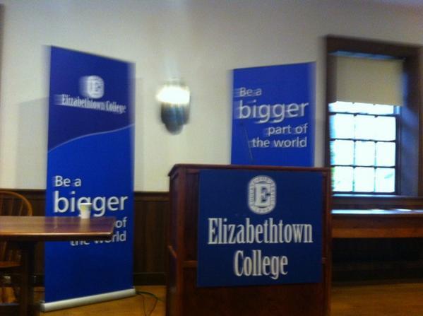 Headed west to hear from Liberian Ambassador Jeremiah Sulunteh discuss Ebola virus at Elizabethtown College http://t.co/UZzh9hXOcn
