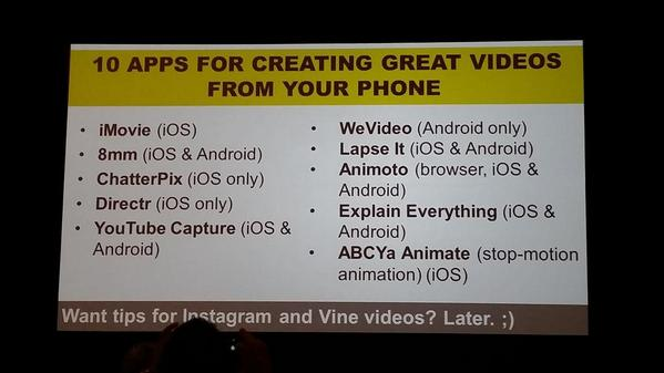 10 killer apps for creating great videos from your phone. @prsarahevens #socialfresh http://t.co/nA9ASmHCLf