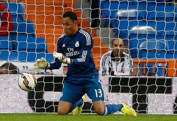 Keylor fue otro espectador en el triunfo del Real Madrid