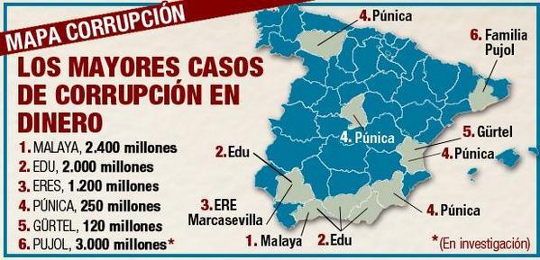Mapa Corrupcion España 2017.La Corrupcion Esa Espana Mia Esa Espana Nuestra 242 290