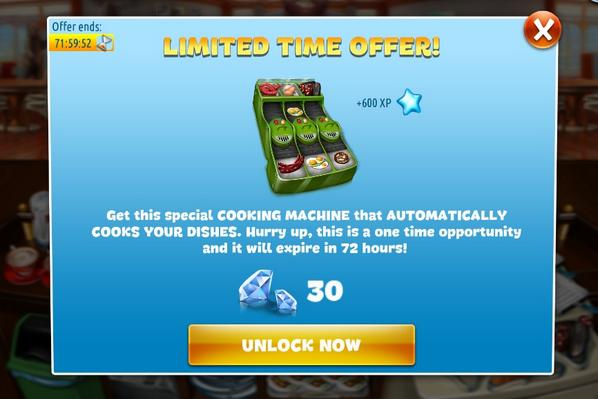 cooking fever automatic cooking machine
