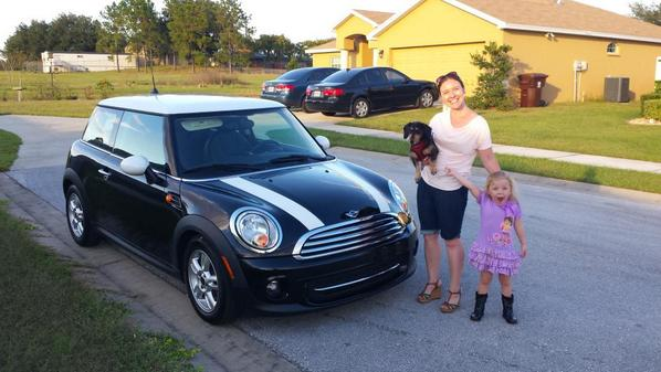 Christa Avampato On Twitter Me W My New Mini Cooper Niece Dachschund All Thx To Carmax Orlando Florida Is Awesome