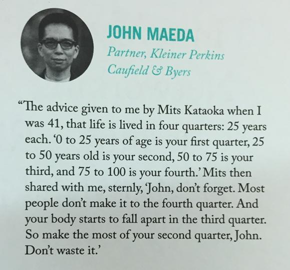 """""""Your body starts to fall apart in the third quarter"""" @johnmaeda @99u http://t.co/8uPWKTDhF5"""
