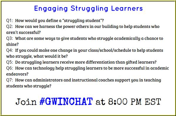 Here's a preview of tonight's questions - see you in a couple of minutes! #Gwinchat http://t.co/lKQp4IdwHB