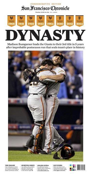 Dynasty. #SFGTrilogy #SFGiants http://t.co/VMmnDpCNeE
