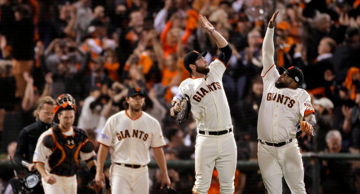 THIRD TIME'S A CHARM!  POP THE CHAMPAGNE AND HIGH FIVES FOR EVERYONE!   THE #SFGIANTS ARE WORLD SERIES CHAMPS AGAIN! http://t.co/JtkZyPpoaE
