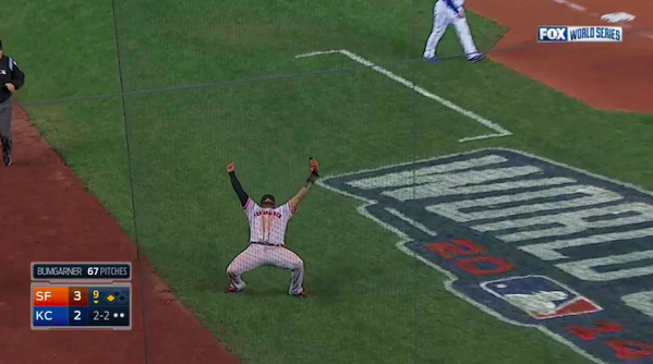 .@MLBONFOX: The final out.   YES! YES! YES! #WorldSeries #SFGiants #Game7 http://t.co/OuYOLGv3EC