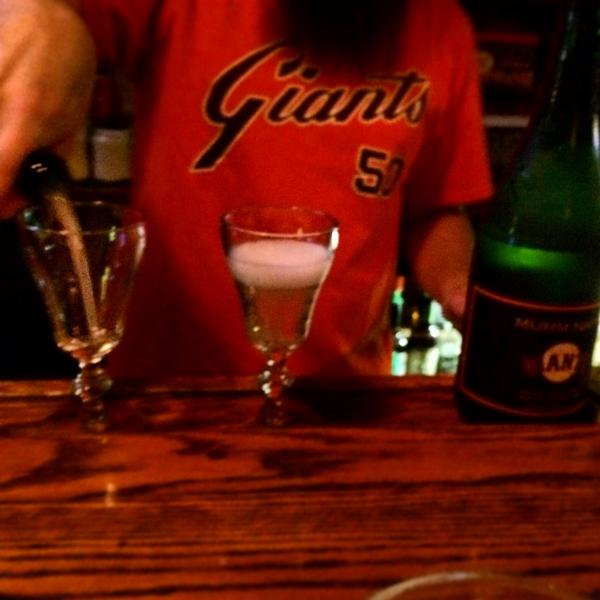 Yes. @SFGiants bubbly in Irish coffee cups. Because this is San Francisco. And life is good. http://t.co/Pe9QOTiTo1