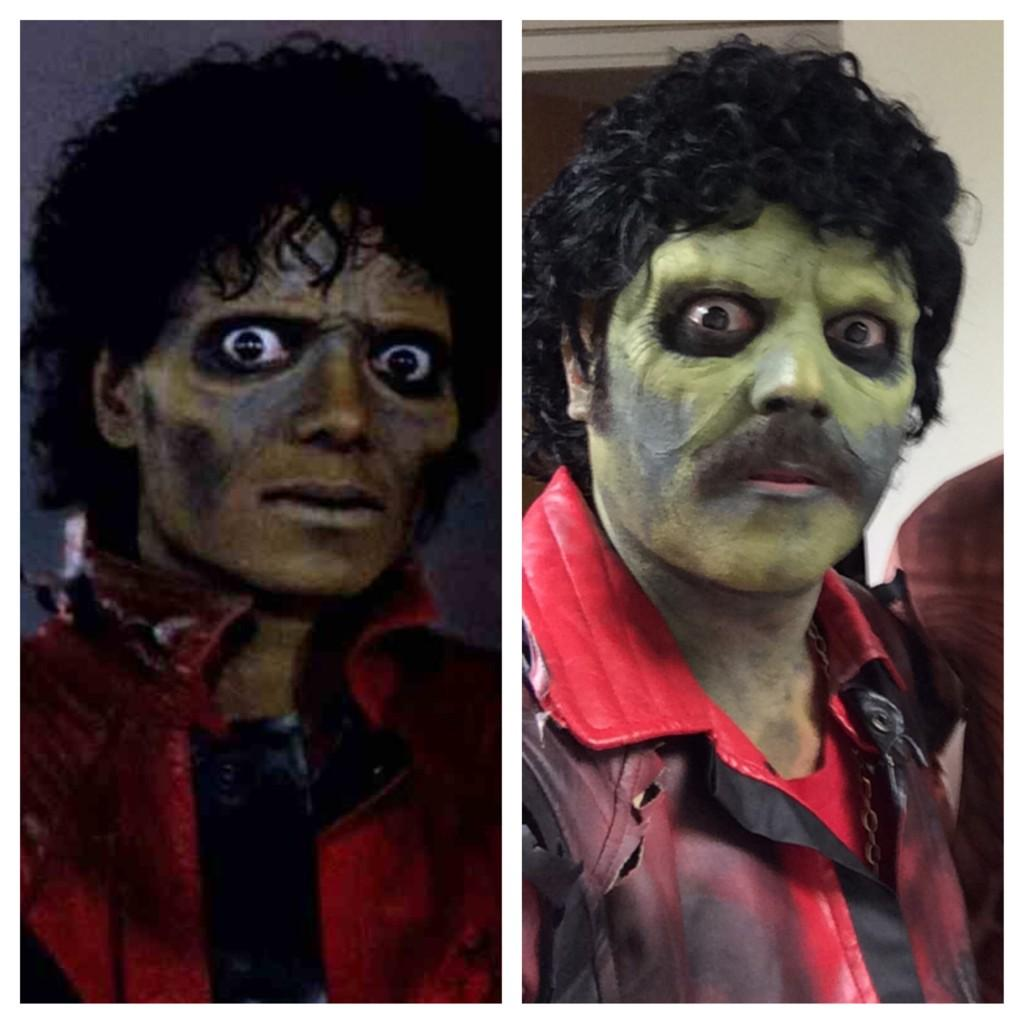 Michael jacksons friller or shrek with a wig on ! Halloween juice tonight 10 pm itv2 http://t.co/q787mIzI0O
