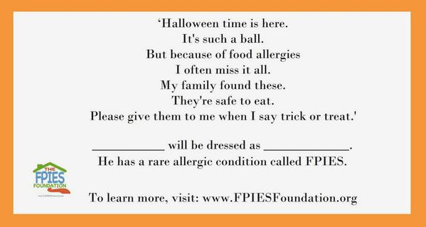 The Fpies Foundation On Twitter This Food Allergy Poem Is