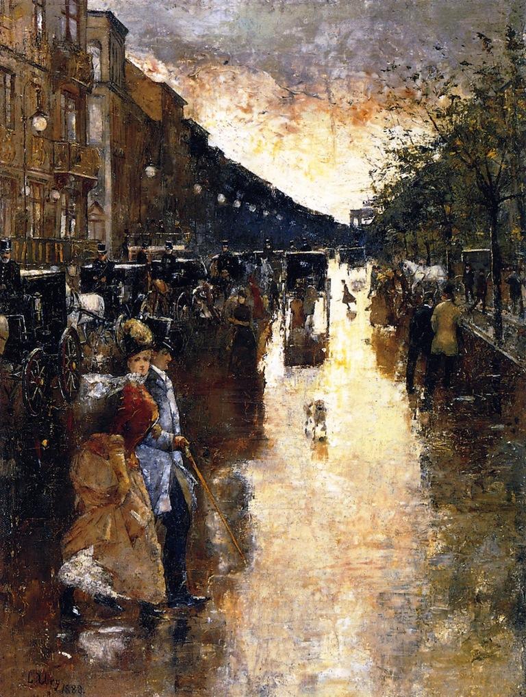 Unter den Linden after the Rain