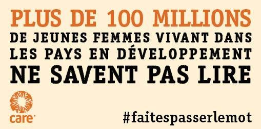 RT @CAREfrance: Chaque année passée à l'école permet à une fille d'augmenter les revenus de sa famille jusqu'à 20% #faitespasserlemot http:…