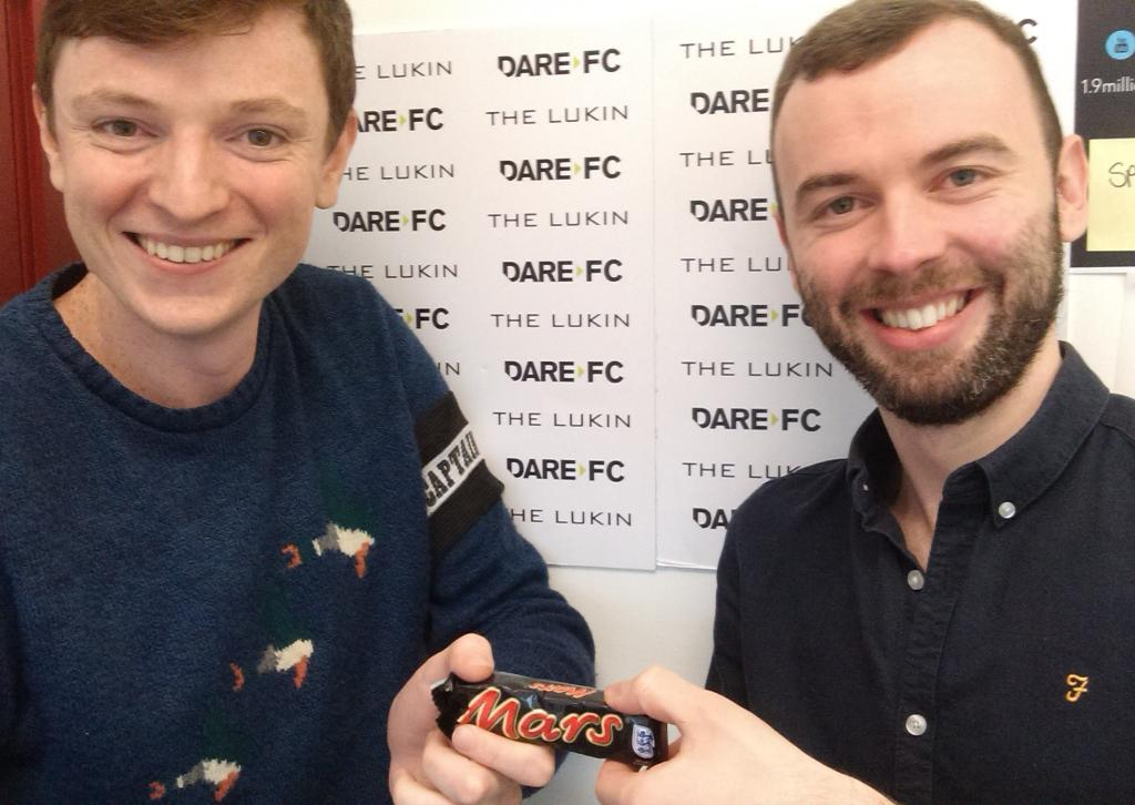Who in Adland dares challenge #DareFC to a game next? RT @confallon: A proud day #manofthematchmarsbar http://t.co/yR7o2oriB3