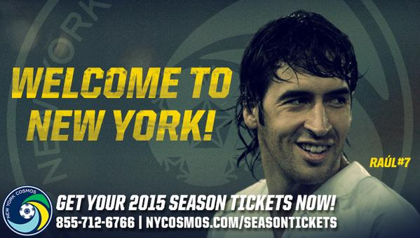 Confirmed! Welcome to New York, Raúl! http://t.co/lhJ7DlQiBQ #NYCosmos http://t.co/HDifreXIM5