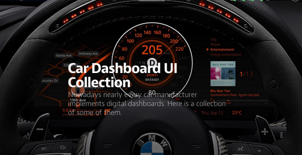 Ighsaan Robinson On Twitter Car Dashboard UI Collection Https - Cool car dashboards