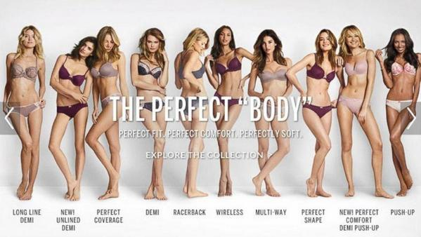 The new Victoria's Secret ad makes me uncomfortable. Perfect body? They look seriously malnourished to me! http://t.co/i06nE7SQmG