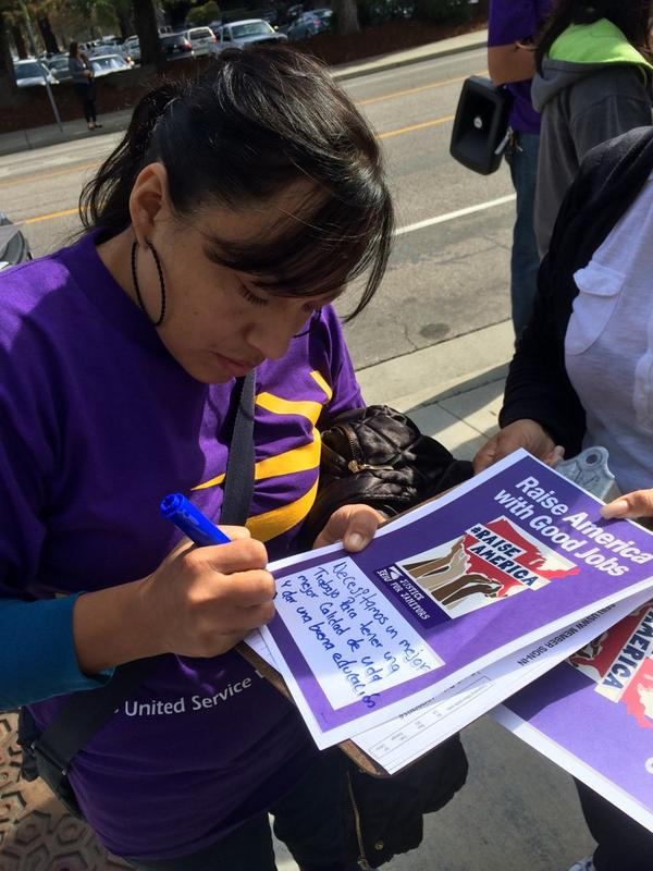 Marliy in San Jose is standing for a better way of life #RaiseAmerica http://t.co/XIZ4X8bSfg