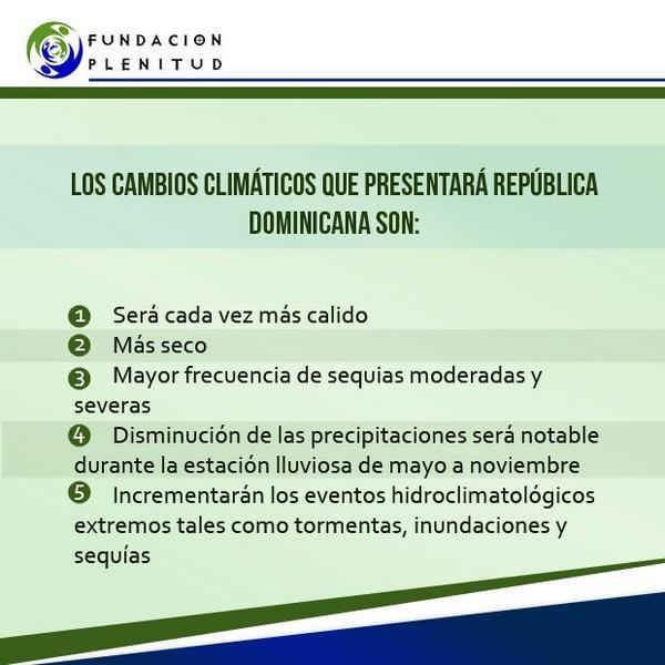Cuales consecuencias se perciben desde ya en República Dominicana como consecuencia del #CambioClimatico? http://t.co/eiYpZtepwM