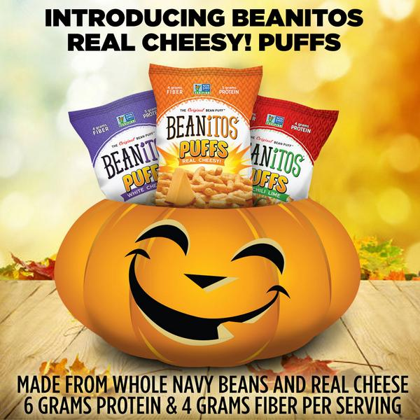 Introducing Beanitos Real Cheesy Puffs! RETWEET for a chance to win a Beanitos PRIZE pack. http://t.co/Q1uc5itI52