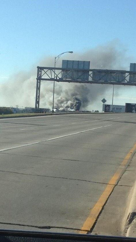 BREAKING: Plane crash near #Wichita airport. PHOTO http://t.co/ZH7y3fwE7u