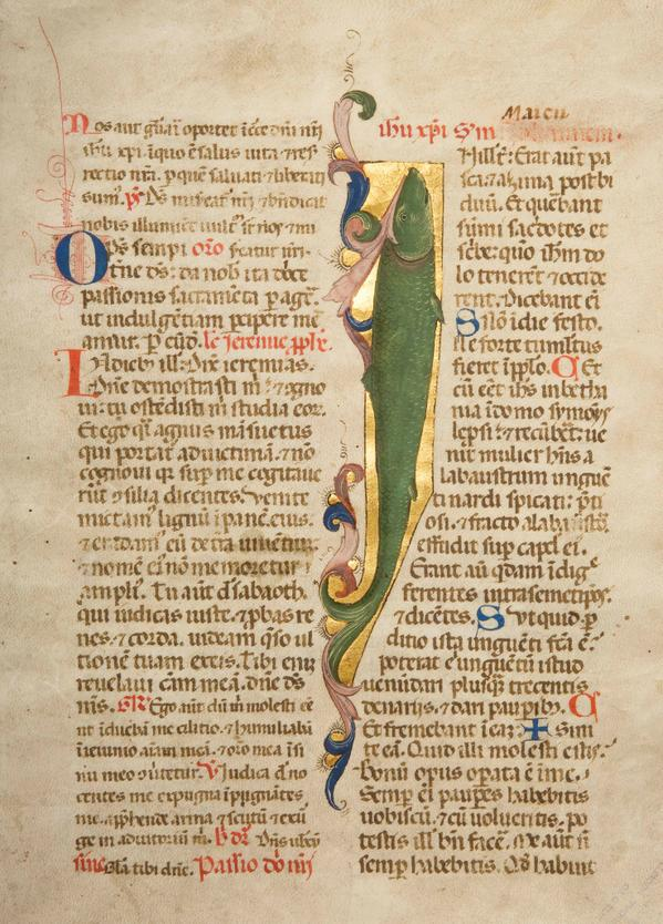 The oldest document in our #Archives. A 15th century illuminated manuscript from Florence, Italy. #AskAnArchivist http://t.co/wJk6hQaUSI
