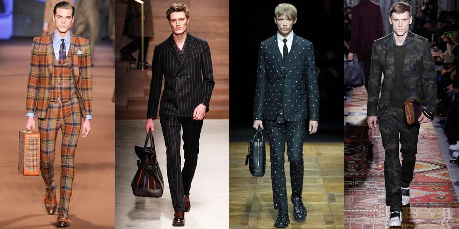 Checks, camo, floral - every print imaginable has been applied to suiting for AW14: http://t.co/ec7a6f6wII http://t.co/UPlbp11j3G