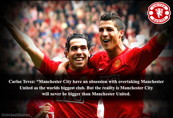 United Quotes On Twitter Carlos Tevez On Manchester City Obsession With Manchester United Mufc Http T Co Qfm9gxdevz
