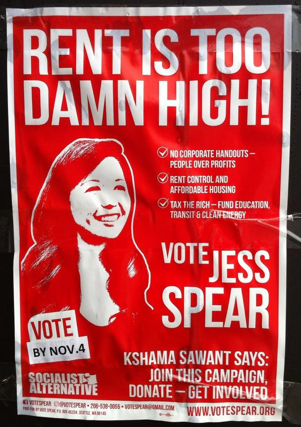 Seattlites: if you're left of the Dems & considering not voting, vote for Jess Spear. Every voice counts. http://t.co/FdE5vcDKVE