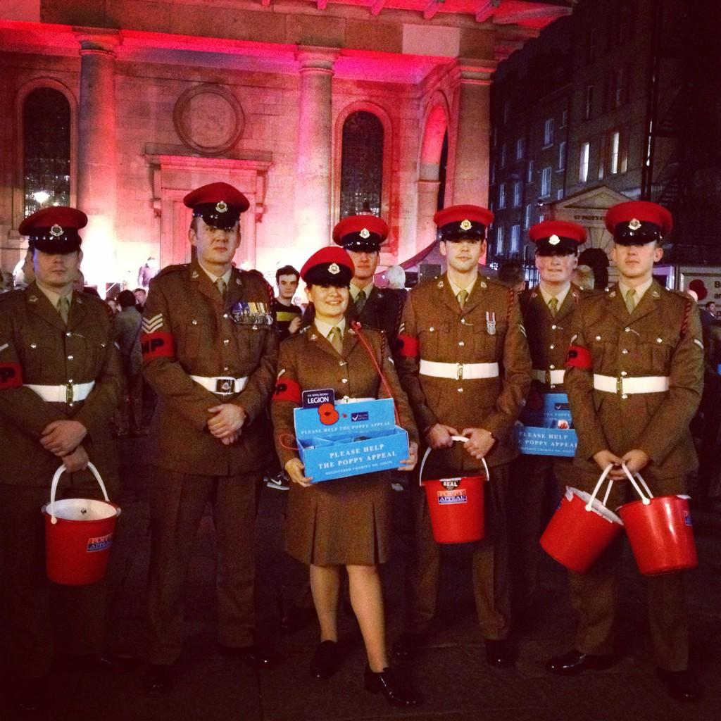RT @PoppyLegion: Colchester's 16th Air Assault brigade have been out collecting all day. Thanks guys! #BritishArmy #LDNPoppyDay http://t.co…