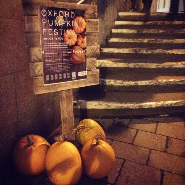 Very excited about the #Oxford Pumpkin Festival launch tonight! #eatyourpumpkin #pumpkinrescue http://t.co/OyNrEL2R0j