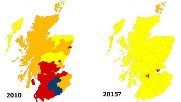 The new political map of Scotland? Seats from @STVNews poll http://t.co/93rxBzhyr7 Mapped with http://t.co/8qHXAmxFJH http://t.co/5vWNbzCnDQ