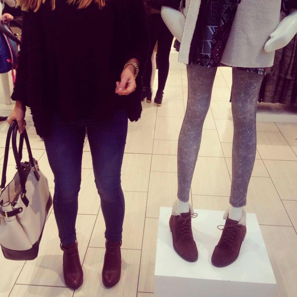 """Topshop's """"skinny"""" mannequin has caused all sorts of controversy, but what do YOU think? http://t.co/OdIxnjlJVH http://t.co/hbM2ViNIZ7"""