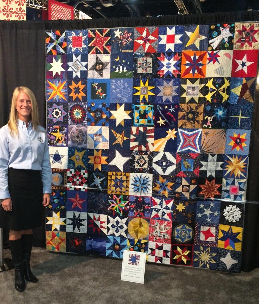 Karen l nyberg on twitter just one of 28 quilts made for Space shuttle quilt